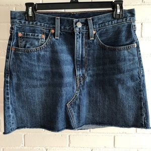 Levi's Raw Edge Deconstructed Jean Skirt, Size 27